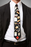 Doctor with Themed Tie Royalty Free Stock Image