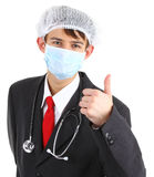 Doctor with a thumbs up Stock Image