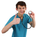 A doctor with a thumbs up Royalty Free Stock Image