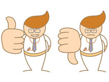 Doctor thumbs up down saying like and dislike Royalty Free Stock Photography