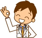 Doctor to be ok. This is an illustration of a doctor to be ok Stock Photo