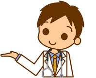Doctor to guide. This is an illustration of a doctor to guide Royalty Free Stock Photography