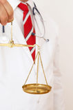 Doctor to judge Royalty Free Stock Photo