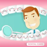 Doctor with tooth health concept. On the green background Stock Images