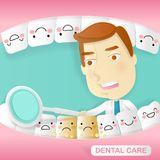 Doctor with tooth health concept. On the green background Royalty Free Stock Images