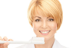 Doctor with toothbrush Royalty Free Stock Photo