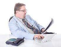 Doctor transcribing examination results Stock Photo