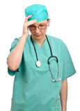 Doctor sad problem Royalty Free Stock Image