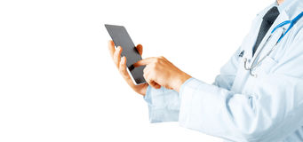 Doctor Using Digital Tablet. Modern Technology In Medicine Concept Royalty Free Stock Photography