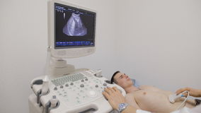 Doctor using the ECHO stock footage