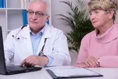 Doctor using laptop Royalty Free Stock Photo