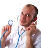 Doctor using a stethoscope Royalty Free Stock Photography