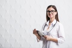 Doctor Using Tablet stock photos