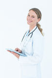 Doctor using tablet pc Royalty Free Stock Photos