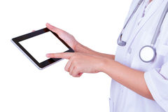 Doctor using a tablet Royalty Free Stock Image