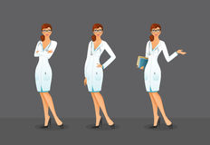 Doctor in various poses Royalty Free Stock Photos