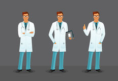 Doctor in various poses Stock Photography