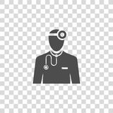 Doctor vector icon. Color illustration doctor vector icon Stock Image