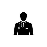 Doctor vector icon. On white background Stock Images