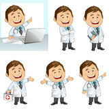 Doctor. Vector illustration of a busy doctor royalty free illustration