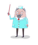Doctor, vector illustration Stock Image