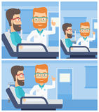 Doctor visiting patient. Stock Images
