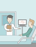 Doctor visiting patient Royalty Free Stock Images