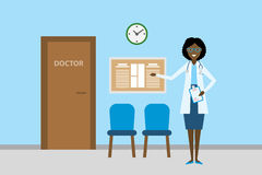 Doctor in waiting room. Royalty Free Stock Photos