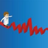 Doctor walk on red pulsation line balancer Royalty Free Stock Image