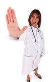 Doctor warning Stock Photos