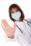 Doctor warning Stock Photo