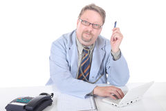 Doctor warning or educating Royalty Free Stock Image