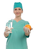 Doctor water fruit health Royalty Free Stock Photo