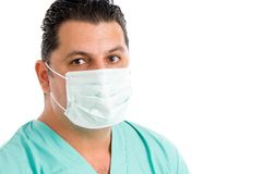 Doctor wearing a face mask Stock Images