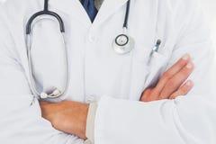 Doctor wearing lab coat Stock Image