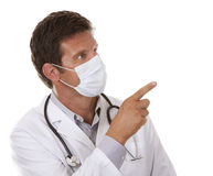Doctor wearing a mask Stock Images