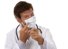 Doctor wearing a mask Stock Photos