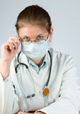 Doctor wearing mask Stock Photos
