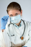Doctor wearing mask Royalty Free Stock Image