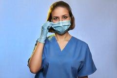 Doctor wearing medical uniform protective mask and gloves , Coronavirus Epidemic COVID-19