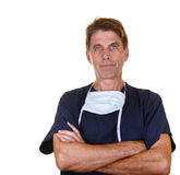 Serious doctor with arms crossed Stock Photography
