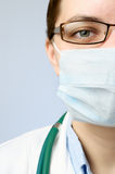 Doctor wearing protective mask Royalty Free Stock Photography