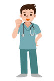 Doctor wearing scrub Stock Photo