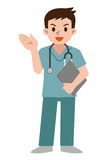 Doctor wearing scrub Royalty Free Stock Photography