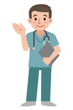 Doctor wearing scrub Royalty Free Stock Photo