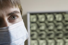Doctor Wearing Surgical Mask Stock Images
