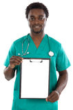 Doctor whit clipboard Stock Photo