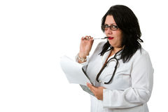 Doctor whit a clipboard Royalty Free Stock Image