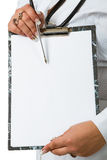 Doctor whit a clipboard Stock Photo