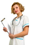 Doctor whit a clipboard Royalty Free Stock Photos
